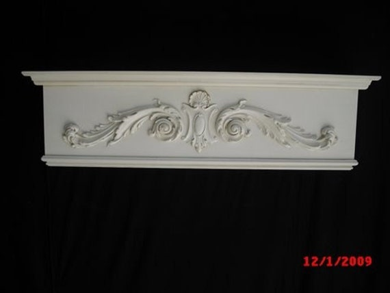 handcrafted cornice box window treatment. Black Bedroom Furniture Sets. Home Design Ideas