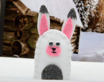Rabbit finger puppet