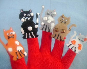 Puppet Glove Set 5 LITTLE KITTENS Puppet Glove Set, Great Tool for Fun Time with Toddlers