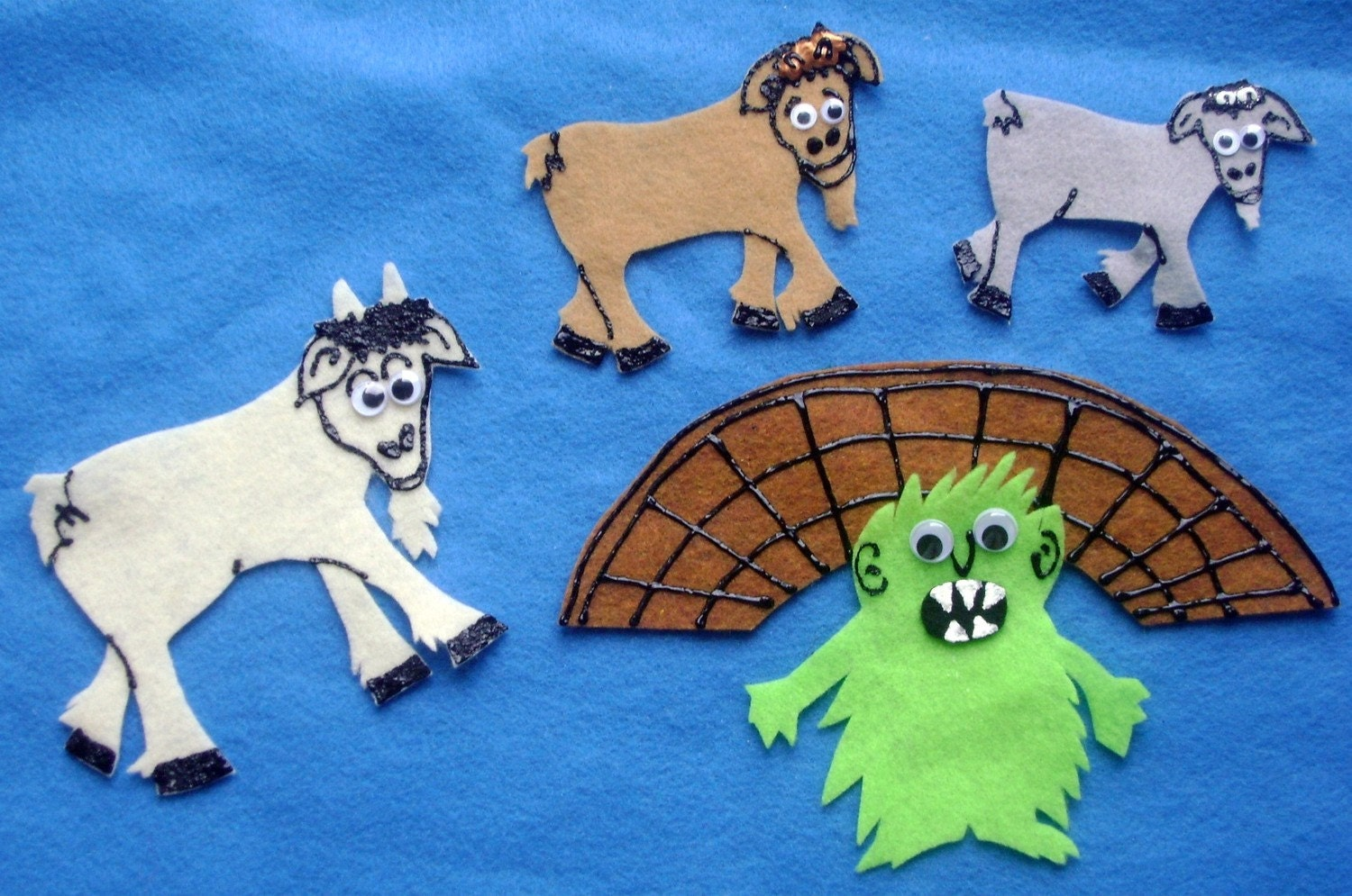 Worksheet Three Billy Goats Gruff Story felt board story set new the three billy goats gruff flannel