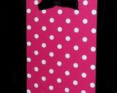 Magnet Board Gift  - Pink and White Polka Dots Fabric - 11 x 16 - Wall Hanging