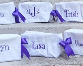 Personalized Cosmetic Bags, Monogrammed Toiletry Case, Set of 4