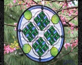 Embroidered Mandala Suncatcher - Mother Omamori (Prosperity)