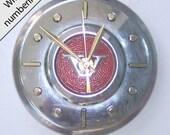 Hubcap Clock, Volvo (Vintage) with numbering (a1123 hub cap)