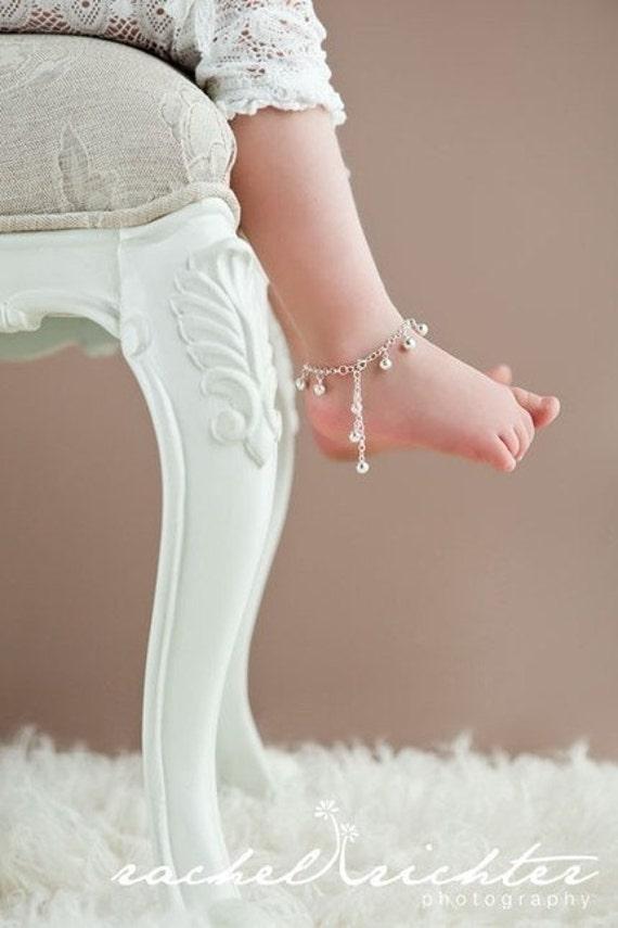 Sterling Silver Jingle Bells Anklet for Child