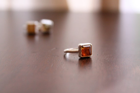 Petite Cognac Amber ring