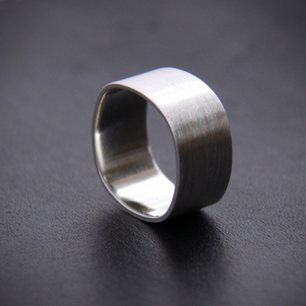 wide sterling silver ring for or for unisex silver