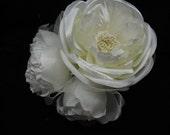 IVORY Peony Flower, Wedding flower, headpiece flower, handmade flower