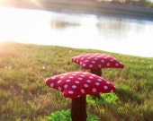 2 kids Mushroom TOADSTOOLS chairs stools set gnome table child youth kids children enchanted forest house magical boy girl original handmade