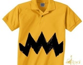 Priority Shipping NEW Charlie Yellow Zig Zag kids boys peanuts Xs, Small, Medium, Large, XL FUNNY Polo Tee Shirt golf T-Shirt Teeshirt brown