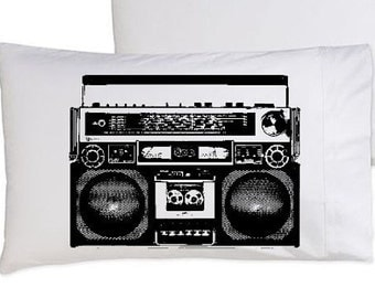 Two (2) A Boombox Is Not A Toy pillowcase funny pillow cover boom box the hip hop hilarious awesome comedy unique radio funky original rap