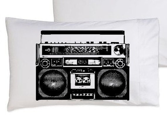 A Boombox Is Not A Toy pillowcase funny pillow cover boom box the hip hop hilarious awesome comedy unique radio funky original rap