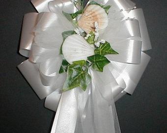 SEASHELLS (Beach) Seashore Pew Bows - Wedding Decorations