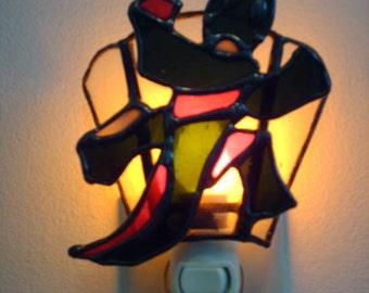 Stained Glass Lizard Nightlight