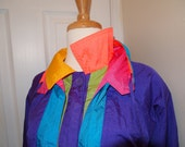 RESERVED. 1980s technicolour dreamcoat. Amazing detailing. Neons. M-L