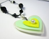 CIJ SALE Love - Upcycled necklace