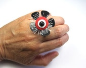 SALE Upcycled adjustable statement ring