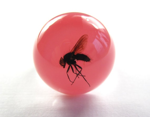 Pink Cotton Candy Fly - Resin ring - Size M