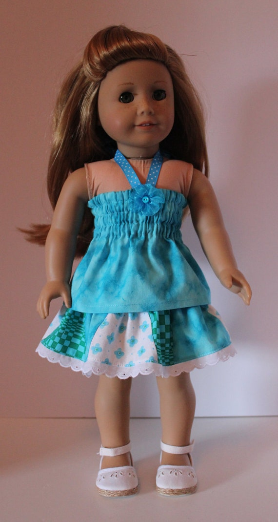 SALE:Twirl Skirt and Turquoise Halter Top Fits American Girl