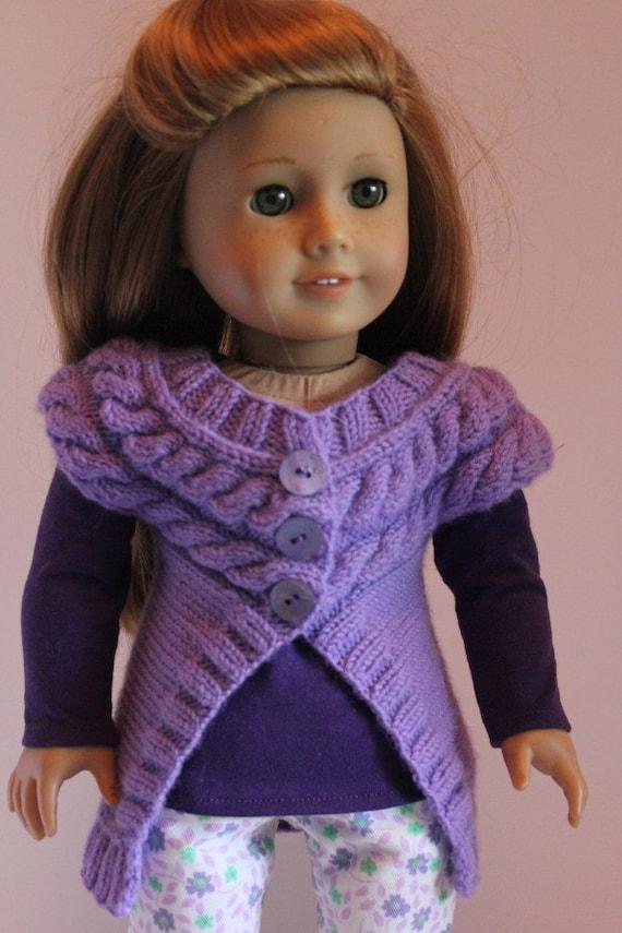 Dark Lavender Shrug Sweater with Purple T-Shirt