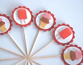 Popsicle and Ice Cream Cone Cupcake Toppers