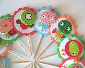 Funny Birds - Cupcake Toppers