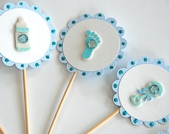 Sweet Baby Boy Cupcake Toppers