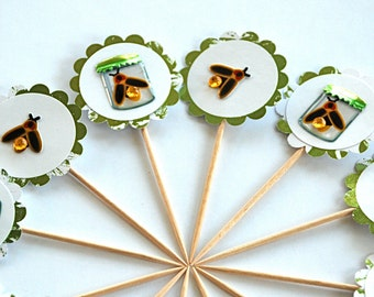 Lightning Buggy - Cupcake Toppers