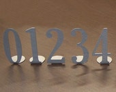 Metal Art Table Numbers Single Digit - Free USA Shipping
