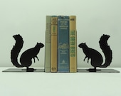 Squirrel Metal Art Bookends - Free USA Shipping