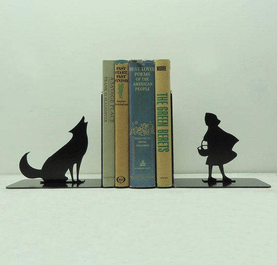 Big Bad Wolf Metal Art Bookends - Free USA Shipping