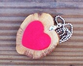 Heart Within Handcrafted Wood Pendant