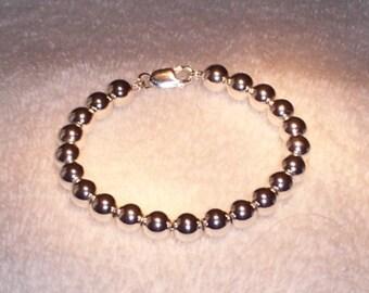 Beautiful Sterling Silver Ball Bracelet