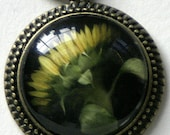 Photo Pendant  Yellow Sunflower with free chain and free shipping