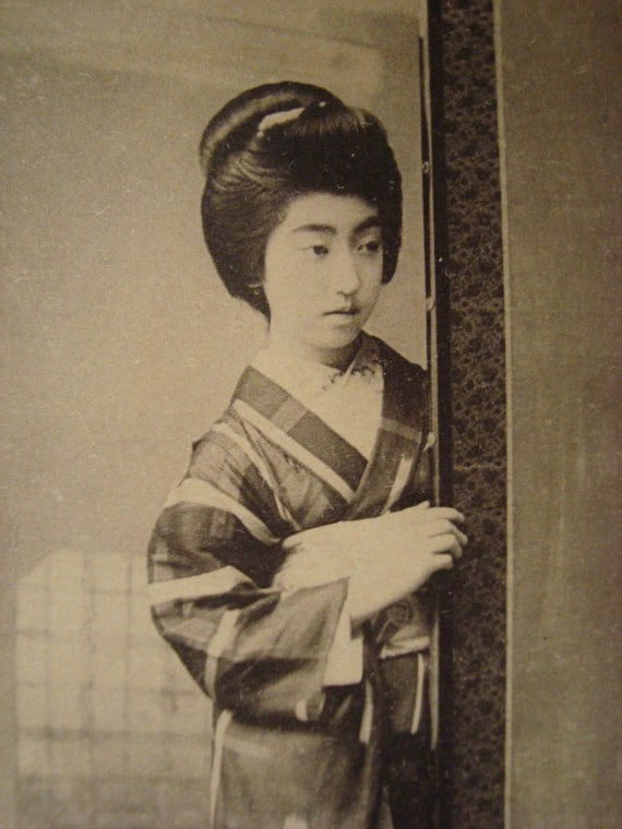 Vintage Japanese Geisha TERUHA Postcard