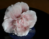 Dolly Valentine Vintage Style Millinery Hair Flower - Large Blush Pink Velvet Rose - Style 2