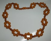 Delicious Vintage Butterscotch Lucite Necklace Reserved Do Not Purchase