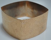 Vintage Goldtone Square Metal Bangle
