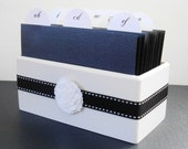 Wedding Guest Book Box and Sign - Black and White Elegance