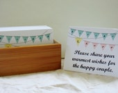 Guest Book Box Prompted Message  - Hitched & Happy - Set of 200