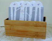 Wedding Guest Book Box - Love Carved in a Birch Tree