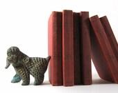 Brass Poodle Dog Vintage Figurine Bookend Sculpture