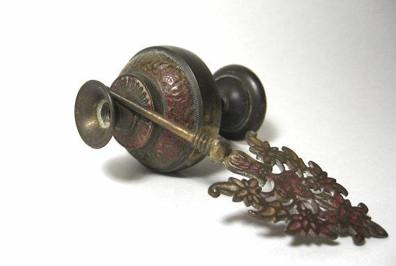 Brass Perfume Bottle Antique Arabic Vial Jar Flask