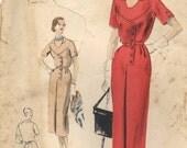 Vogue 1950s Misses Dress Pattern Sz 20 B38