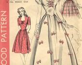 Hollywood 1940s Misses Dress Pattern Sz 18 B36