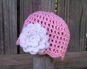 Baby Girl Hat, Crochet Baby Hats, Baby Girl Beanie, Custom Color Beanie,  Flower Beanie, Hats for Babies, Hats for Girls