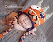 Baby Boy, Monster Hat, Crochet Baby Hats, Monster, Baby Hats, Photo Prop, Photography Prop