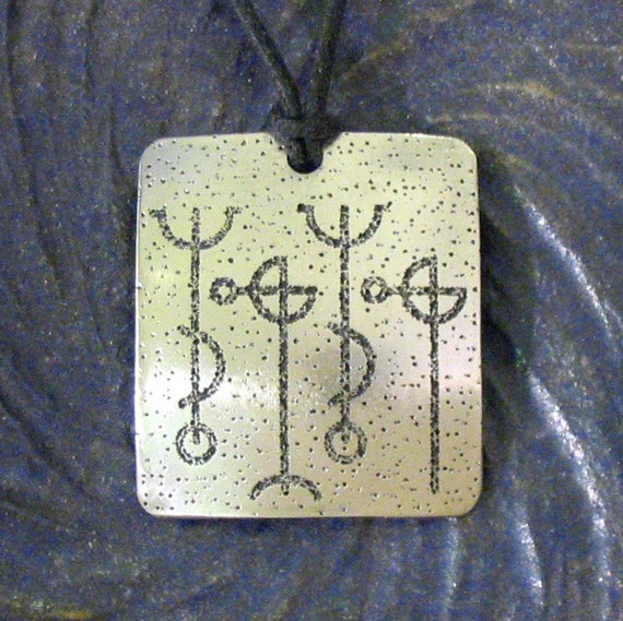 Dream Your Hearts Desire Pendant - Stainless Steel Viking Rune Etched, Draumstafir