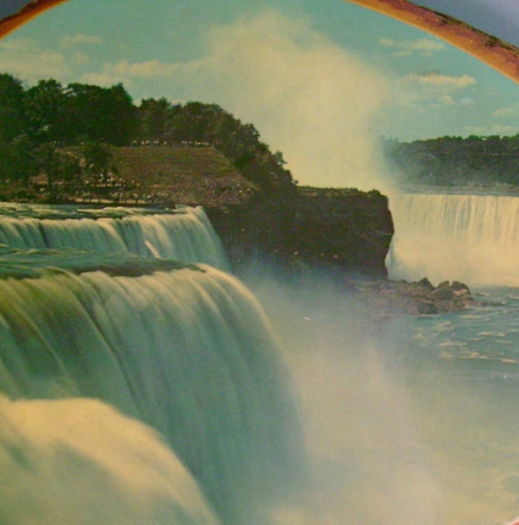 Niagara Falls Maid of the Mist Vintage Souvenir Wooden Bark Plaque reserved Deb Brown