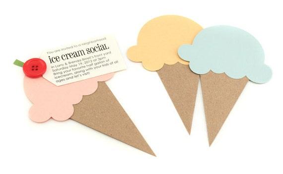 Ice Cream Cone Die Cut (qty 6)